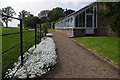 NZ1221 : South terrace, Raby Castle gardens by Ian Taylor