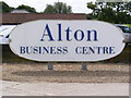 TM1539 : Alton Business Centre sign by Adrian Cable