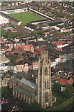 TF3244 : Boston Stump and the Market Square: aerial 2013 by Chris