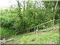 SK9018 : North side steps, the former railway embankment by Christine Johnstone