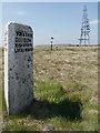 SD9814 : Yorkshire County Boundary Stone, Windy Hill by David Dixon