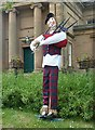 NT7146 : A Greenlaw Festival scarecrow by Walter Baxter