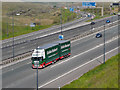 SD9814 : Eddie Stobart Truck and Trailer at Rockingstone by David Dixon
