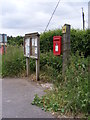 TM1039 : Village Notice Board & Greensleeves Folly Lane Postbox by Adrian Cable