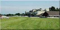 SO4877 : Ludlow Racecourse Grandstand by Peter Evans