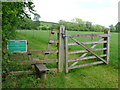 SP1250 : Stile and Gate on Permissive Footpath by Nigel Mykura