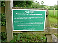 SP1250 : Permissive footpath Sign by Nigel Mykura