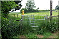 TL0736 : Start of the footpath towards Water End by Philip Jeffrey