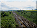 NU0840 : Looking south along the East Coast Mainline, Fenham by Graham Robson