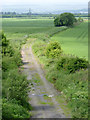 NS8595 : Disused railway line at Knowfaulds by Alan Murray-Rust