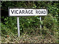 TM2277 : Vicarage Road sign by Adrian Cable