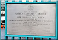 J3474 : Queen Elizabeth Bridge opening plaque, Belfast by Albert Bridge
