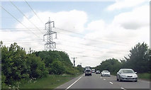 SK8354 : A17 at power line crossing east of Drove Lane by John Firth