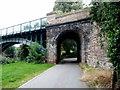 SO5039 : Masonry section of Hunderton Bridge, Hereford by Jaggery