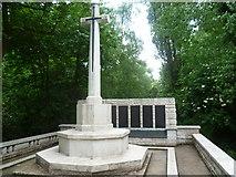 TQ3386 : The war memorial in Abney Park Cemetery by Marathon