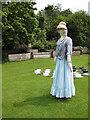 SE6779 : Ghostly looking scarecrow, Nunnington Hall by Pauline E
