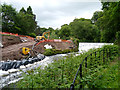 SJ8382 : Construction Work at Quarry Bank Mill Weir by David Dixon