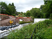 SJ8382 : Construction Work at Quarry Bank Mill Weir by David Dixon