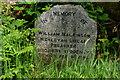 NY1101 : Memorial Stone, Santon Bridge, Cumbria by Peter Trimming