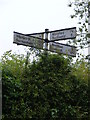 TM4581 : Roadsign on Halesworth Road by Adrian Cable