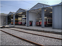 SK3454 : Tramshed, National Tramway Museum by David Dixon