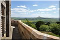 NT5820 : The parapet walkway at Fatlips Castle by Walter Baxter