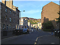 NT2672 : East on East Crosscauseway, with Salisbury Crags by Robin Stott