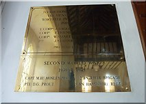 SU5355 : All Saints, Hannington: war memorials by Basher Eyre