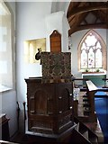 SU5355 : All Saints, Hannington: pulpit by Basher Eyre