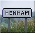 TM4479 : Henham sign by Adrian Cable