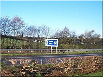 O0586 : The northbound slip road on the M1 at Junction 12 by Eric Jones