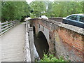 TL6730 : Road bridge and foot bridge over the River Pant, Gt Bardfield by Bikeboy