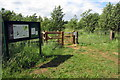 TL0534 : Footpath into the Flitwick Moor SSSI by Philip Jeffrey