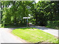 SJ5872 : Three way junction, Ruloe by John Topping