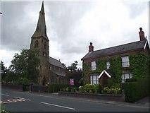 SD4520 : Church and house in Tarleton by Philip Platt