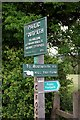 SK0380 : Peak & Northern Footpath Society sign no. 28 by Graham Hogg