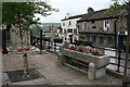 SK0580 : Cattle trough in the market square by Graham Hogg