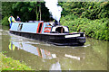 SP3584 : Coventry Canal - steam narrowboat by Chris Allen