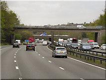 SJ8441 : Whitmore Road Bridge over the M6 by David Dixon