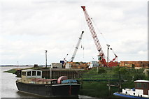TA0623 : Old barge moored at Barrow Haven by Chris