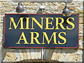 NY7843 : Sign on The Miners Arms, Nenthead by Mike Quinn