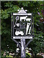 TM3181 : St.James South Elmham Village sign by Adrian Cable