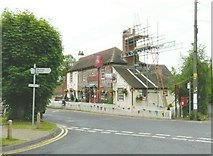 TR2647 : Chimney repair/maintenance of The Bell Inn by John Baker