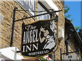 NY7146 : Sign for The Angel Inn by Mike Quinn