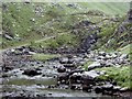 NG8809 : River Arnisdale above the footbridge by Andrew Hill