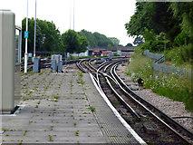TQ2572 : Wimbledon Park Station:  view south by Dr Neil Clifton