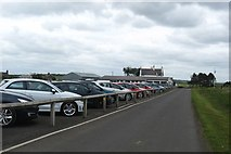 NU0445 : The car park at Goswick Golf Club in Northumberland by James Denham