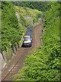 NT0776 : Train in Craigton Cutting by Alan Murray-Rust
