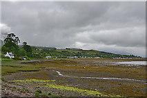 NG8938 : Slumbay harbour at low tide by Nigel Brown