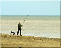 TA4115 : Angler on Kilnsea Beach by Andy Beecroft